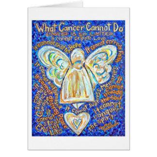 Cartão do anjo do cancer do azul e do ouro