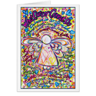 Cartão do anjo do cancer dos corações do primavera