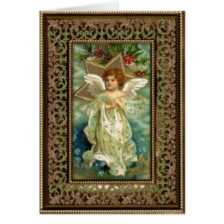 Cartão do anjo do Natal