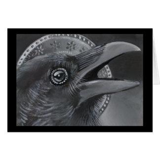 Cartão do anjo do Natal do corvo