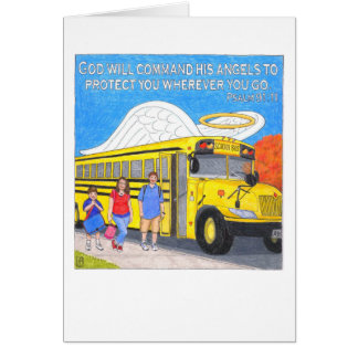 Cartão do anjo do ônibus
