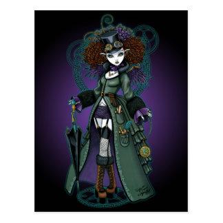 Cartão do anjo do vampiro de Steampunk do