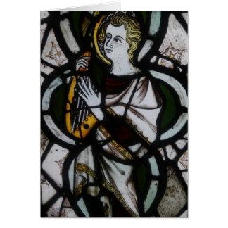 Cartão do anjo do vitral