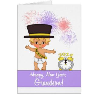 Cartão do ano 2014 novo para o neto