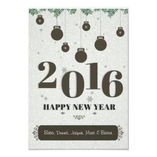 Cartão do ano novo 2016 convite 8.89 x 12.7cm