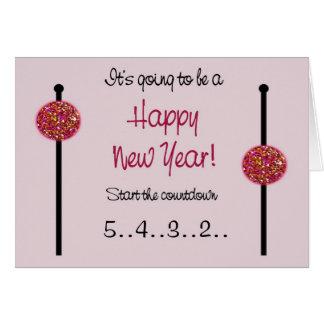Cartão do ano novo/anúncio da gravidez