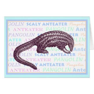 Cartão do Anteater escamoso/Pangolin