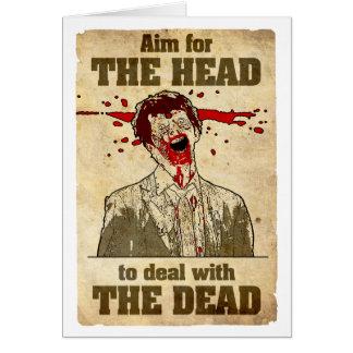 Cartão do Anti-Cumprimento do zombi