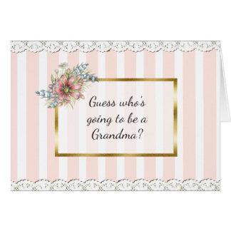 Cartão do anúncio da avó