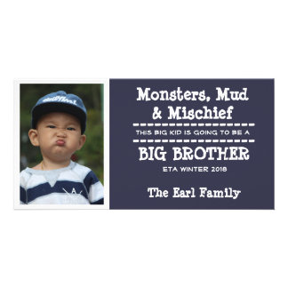 Cartão do anúncio da chegada do bebê do big cartão com foto