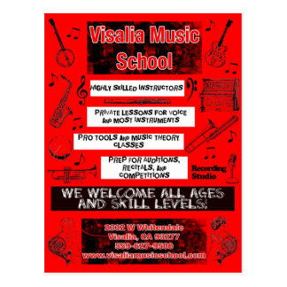 Cartão do anúncio da cor de VMS