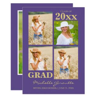 Cartão do anúncio da graduação da foto