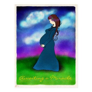 """Cartão do anúncio da gravidez da """"paciência"""""""