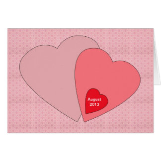 Cartão do anúncio da gravidez do dia dos namorados