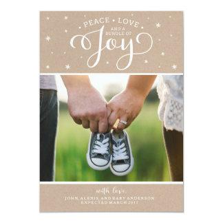 Cartão do anúncio da gravidez do Natal de Kraft