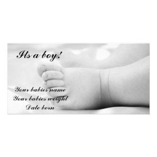 Cartão do anúncio do bebé cartão com foto