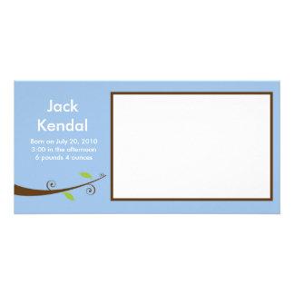 Cartão do anúncio do bebê cartoes com foto
