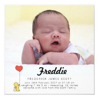 Cartão do anúncio do bebê do amor do coelho