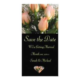 Cartão do anúncio do casamento cartão com foto