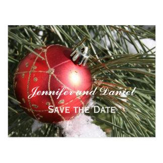 Cartão do anúncio do casamento de dezembro