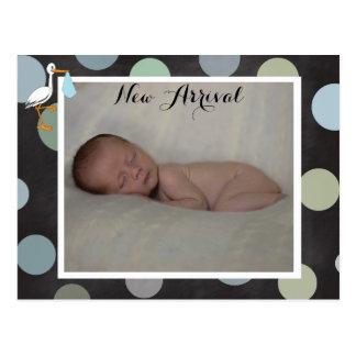 Cartão do anúncio do nascimento do bebé de