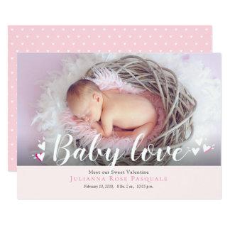 Cartão do anúncio do nascimento dos namorados do