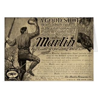 Cartão do anúncio do tiro das armas de fogo do