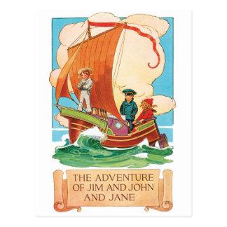 Cartão do anúncio do vintage - Jim, John & Jane
