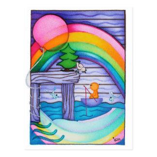 Cartão do arco-íris de Woobies