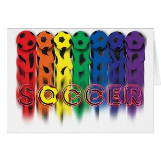 Cartão do arco-íris do futebol