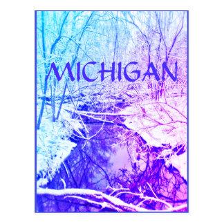 Cartão do arco-íris do rio do inverno de MICHIGAN