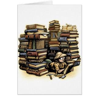 Cartão do arqueólogo do livro