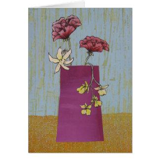 Cartão do arranjo de flor