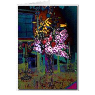 Cartão do arranjo de flor da sala de Dinning