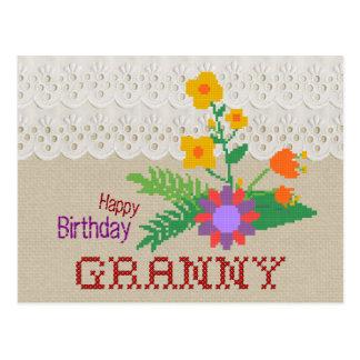 Cartão do artesanato da avó CC0683 do feliz Cartão Postal