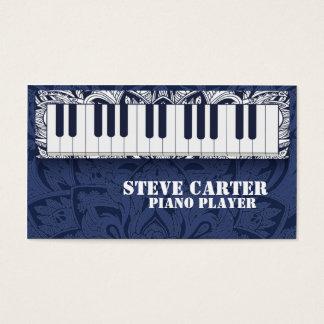 Cartão do artista da escola de música do professor