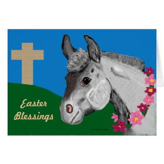 Cartão do asno das bênçãos da páscoa