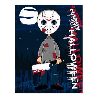 Cartão do assassino em série da máscara do hóquei