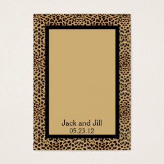 Cartão do assento do impressão do leopardo