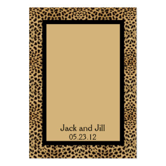 Cartão do assento do impressão do leopardo cartão de visita grande