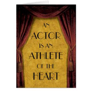 Cartão do ator