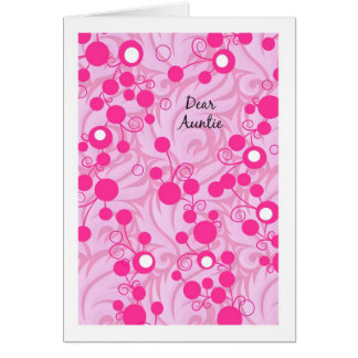 Cartão do Auntie aniversário