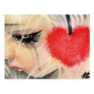 Cartão do auscultadores do coração da boneca