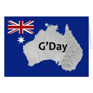 Cartão do australiano do logotipo de G'Day