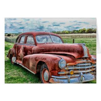 Cartão Do automóvel clássico do vintage do carro dos