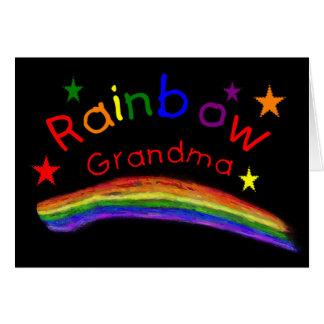"""Cartão Do """"avó lésbica alegre arco-íris """""""