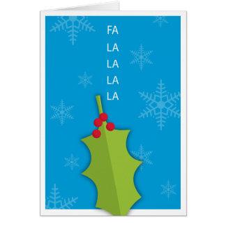 Cartão do azevinho do feriado