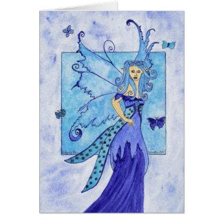 Cartão do azul da borboleta