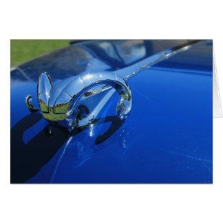 Cartão do azul da cabeça da ram de Dodge
