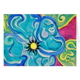 Cartão do azul de Pucci